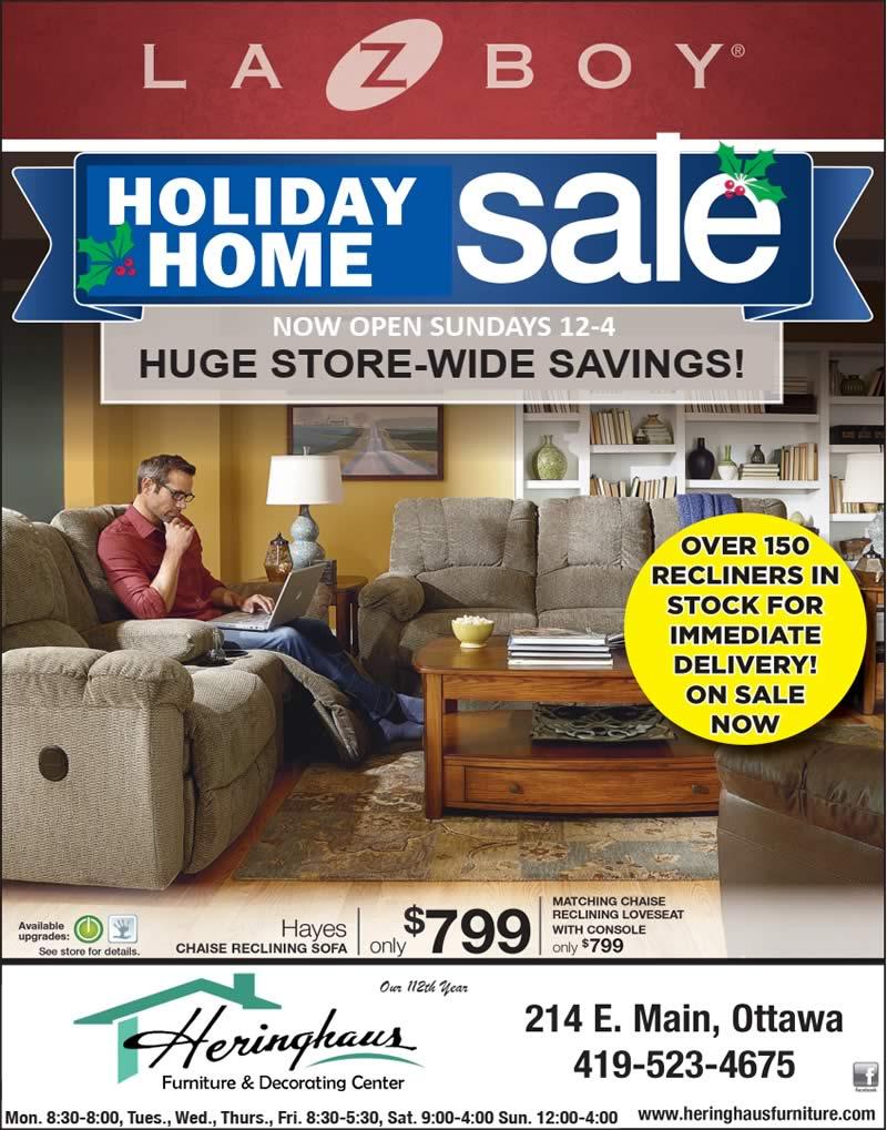 La-Z-Boy Holiday Home Sale ad